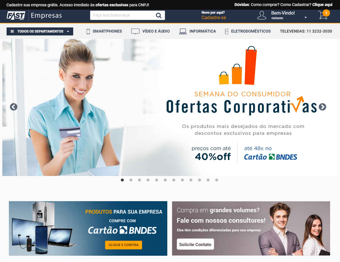 e-commerce b2b fast shop empresas